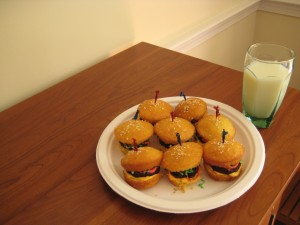 They're mini burgers!  They're burger cupcakes!  They're both!