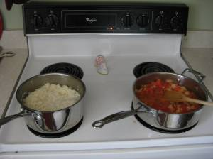 Note how clean the stove is.  That's because it's not mine.