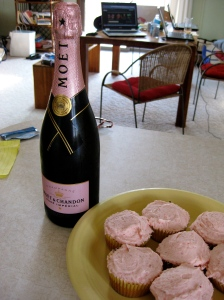 Is there a better way to show up at someone's house than with cupcakes and champagne?