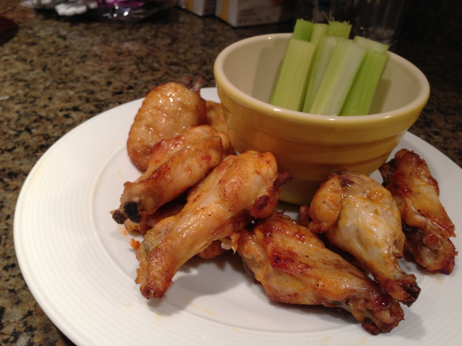 wings on a platter