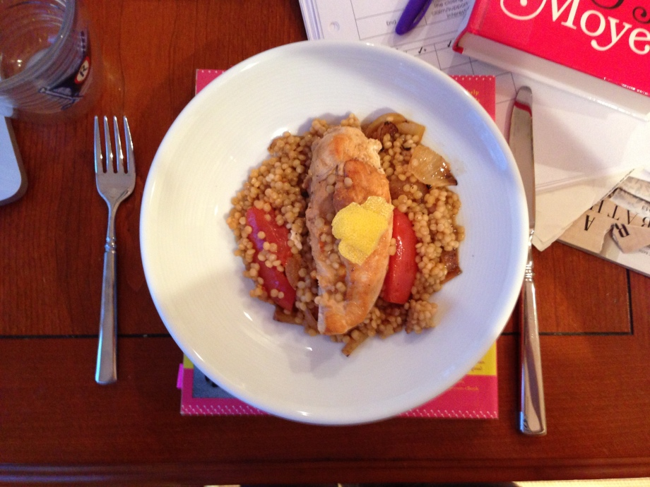 chicken with israeli couscous