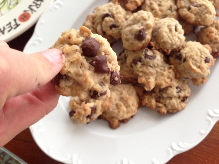 chocolate coconut oatmeal cookies 2