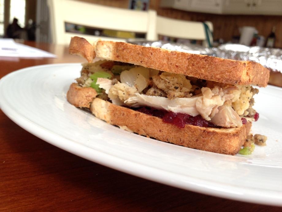 leftover sandwich