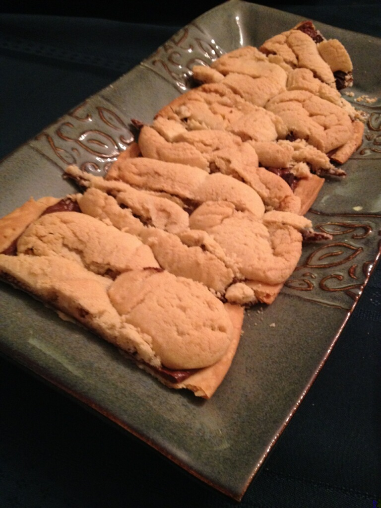 nutella sea salt cookie pie