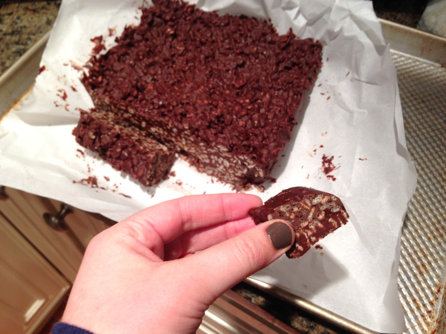 chocolate crunch bars 4