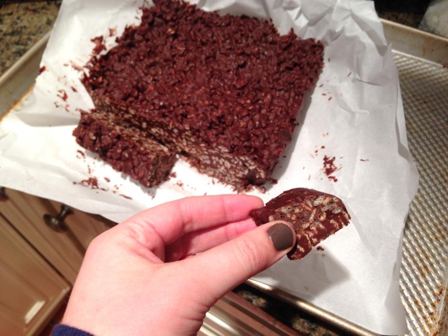 chocolate crunch bars 4