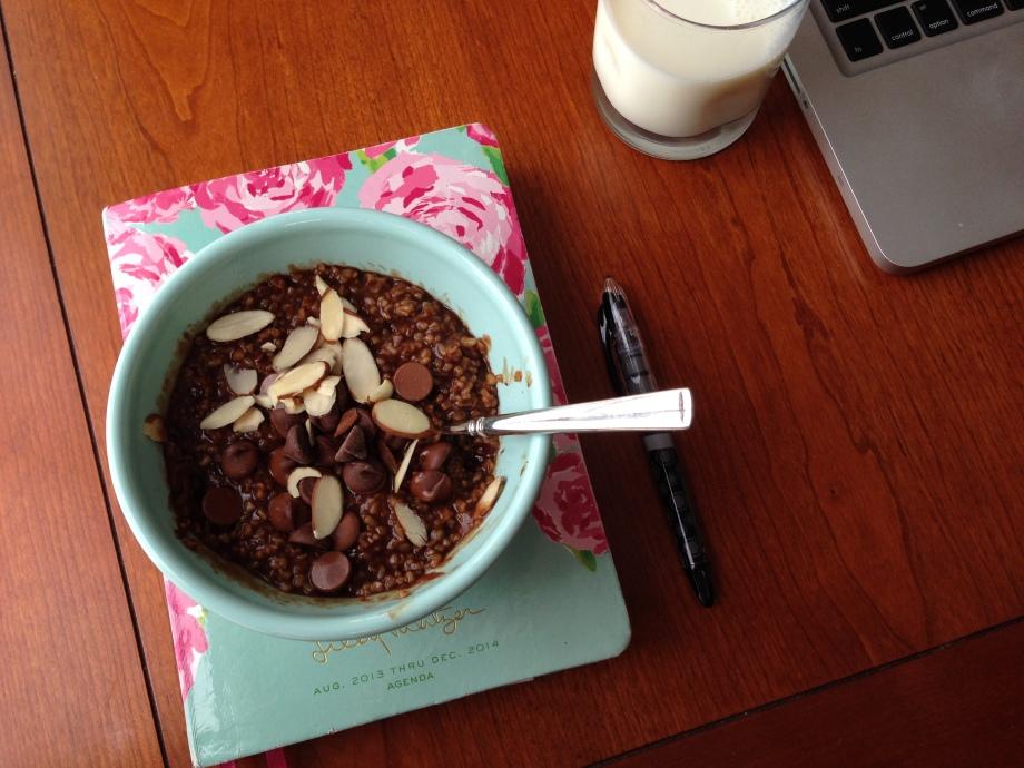 mocha crunch oatmeal