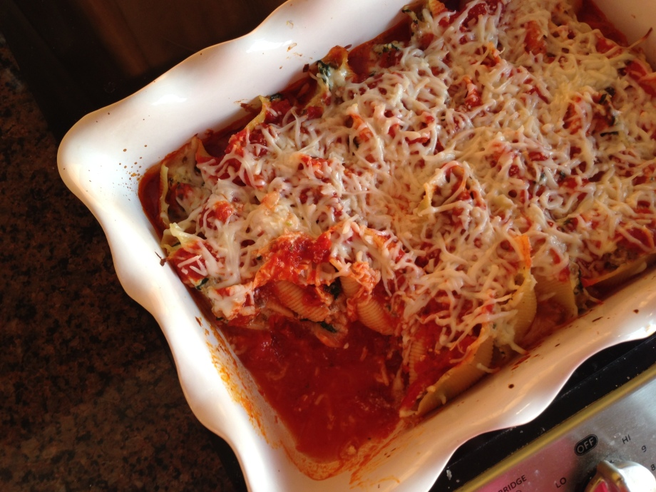 sausage and kale stuffed shells 2