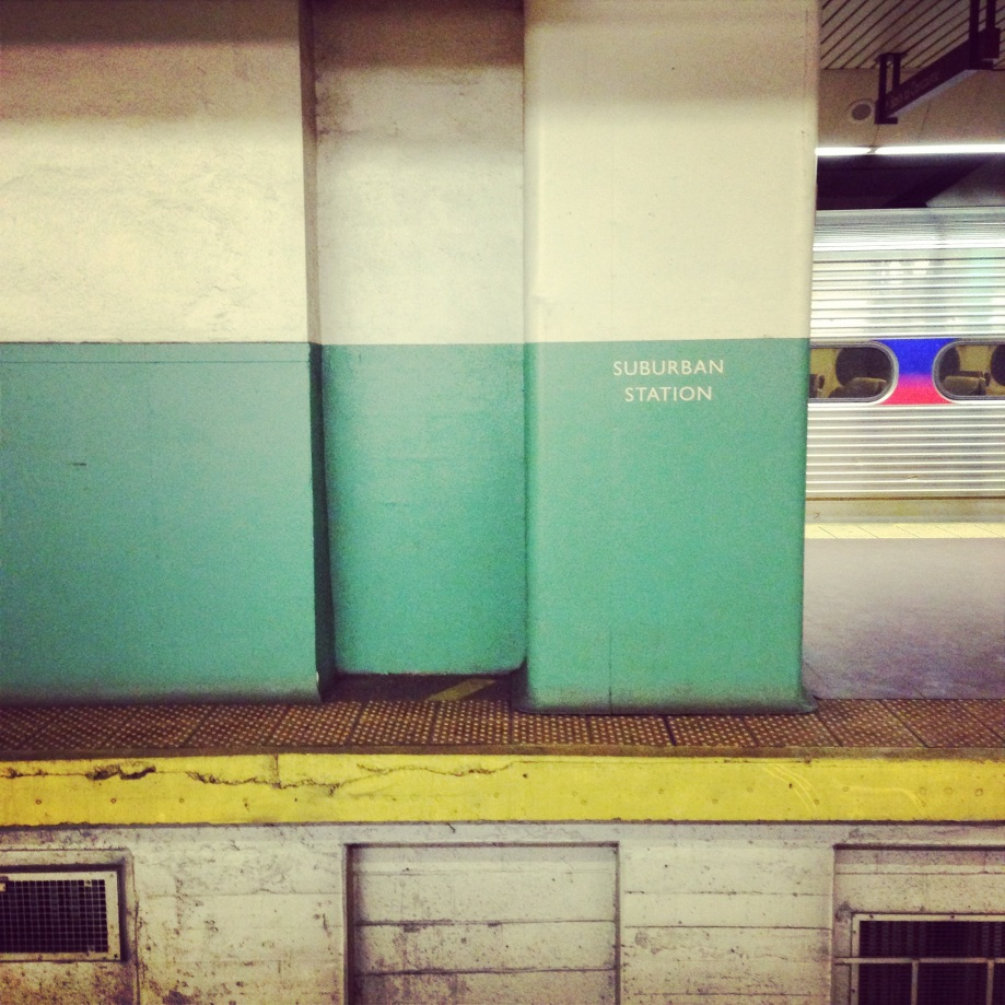 suburban station.
