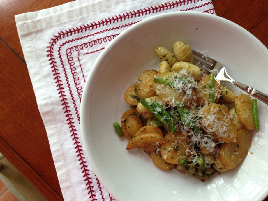 gnocchi with potatoes.