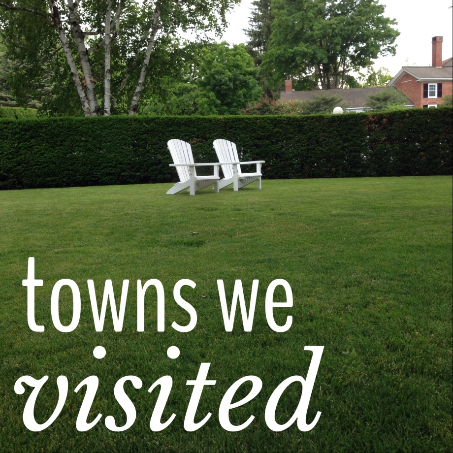 towns we visited.