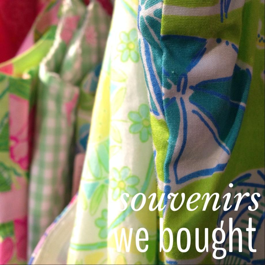 souvenirs we bought.