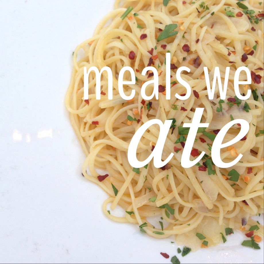 meals we ate.