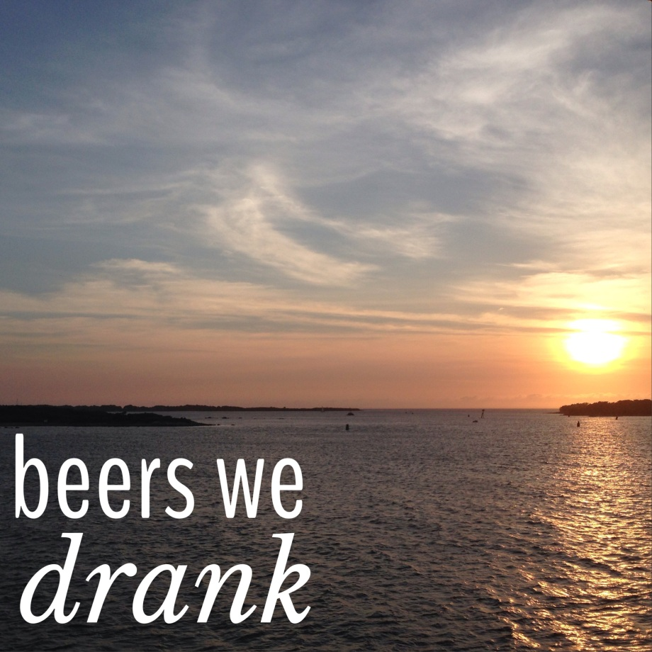 beers we drank.