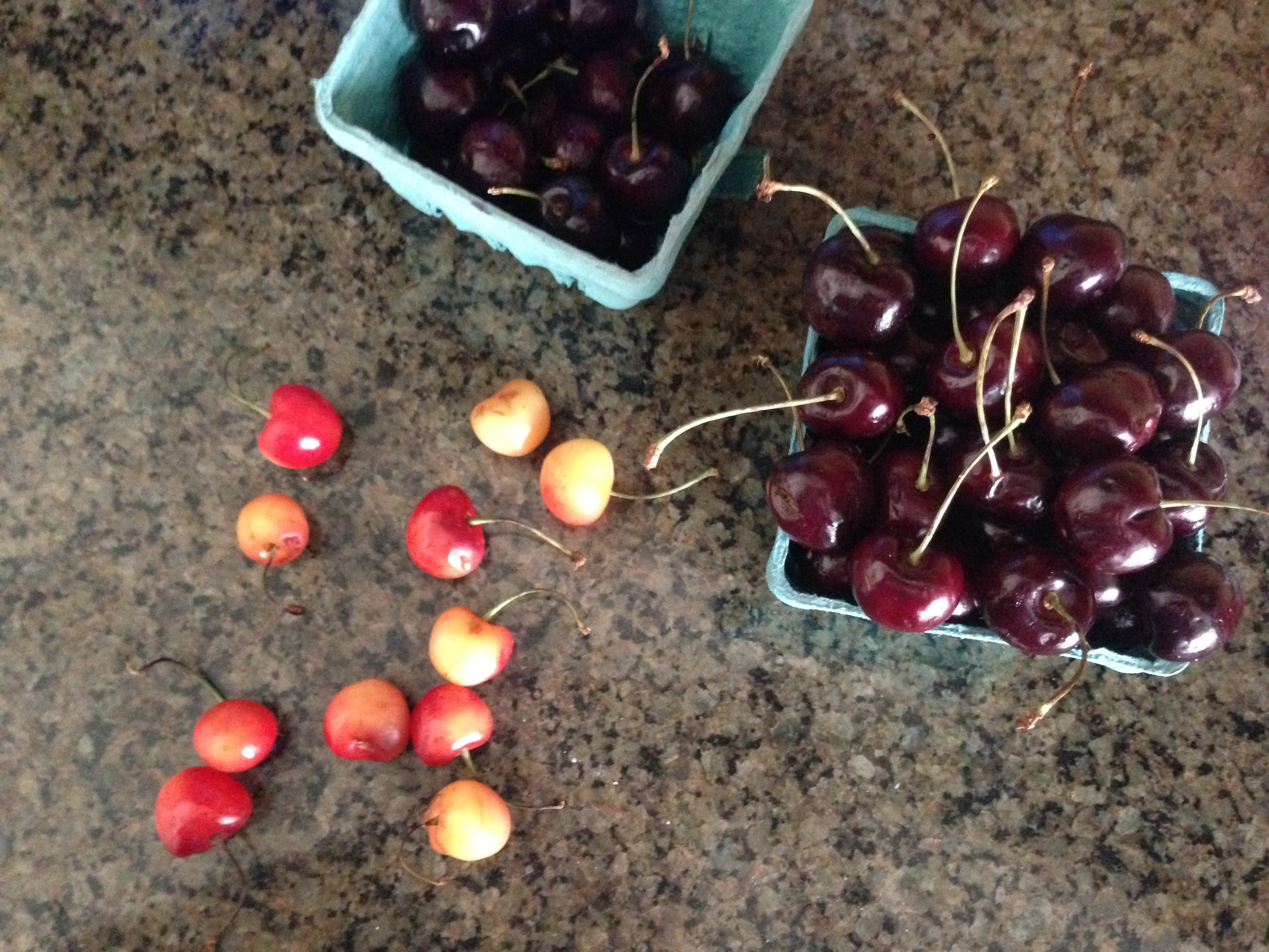 Cherries {cherry brown butter bars} | a glass of milk