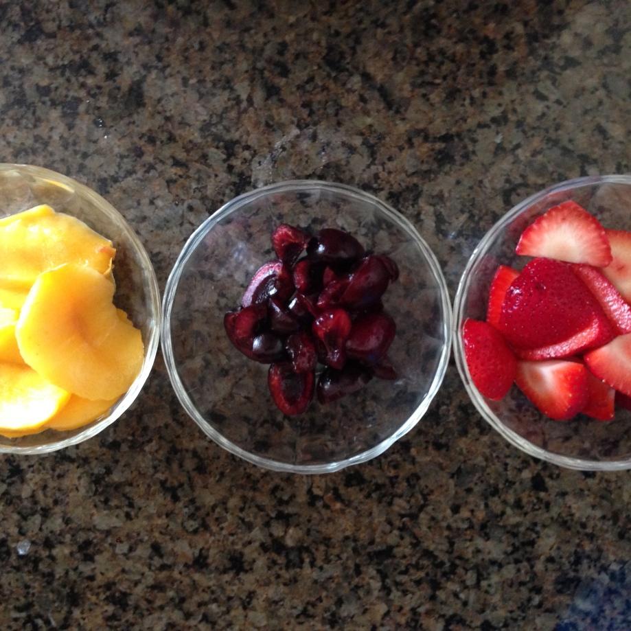 three fruits.
