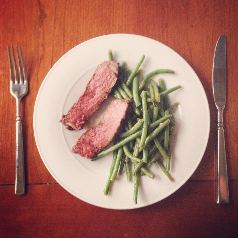 steak night.