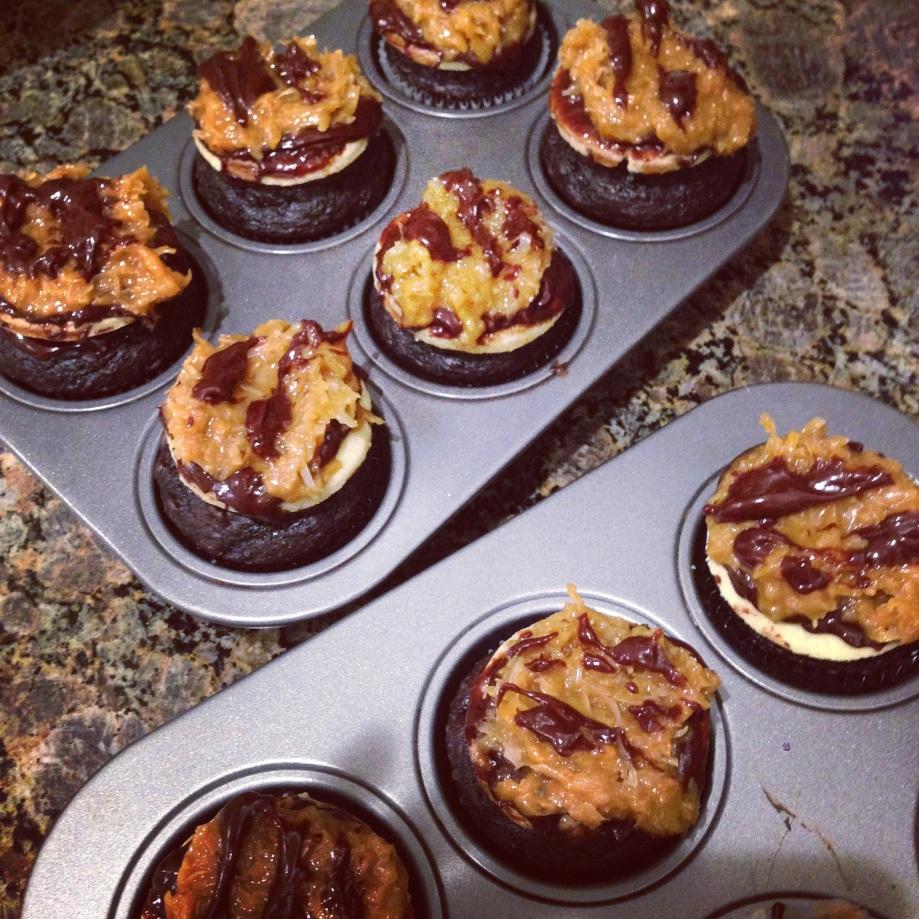 samoas cupcakes.