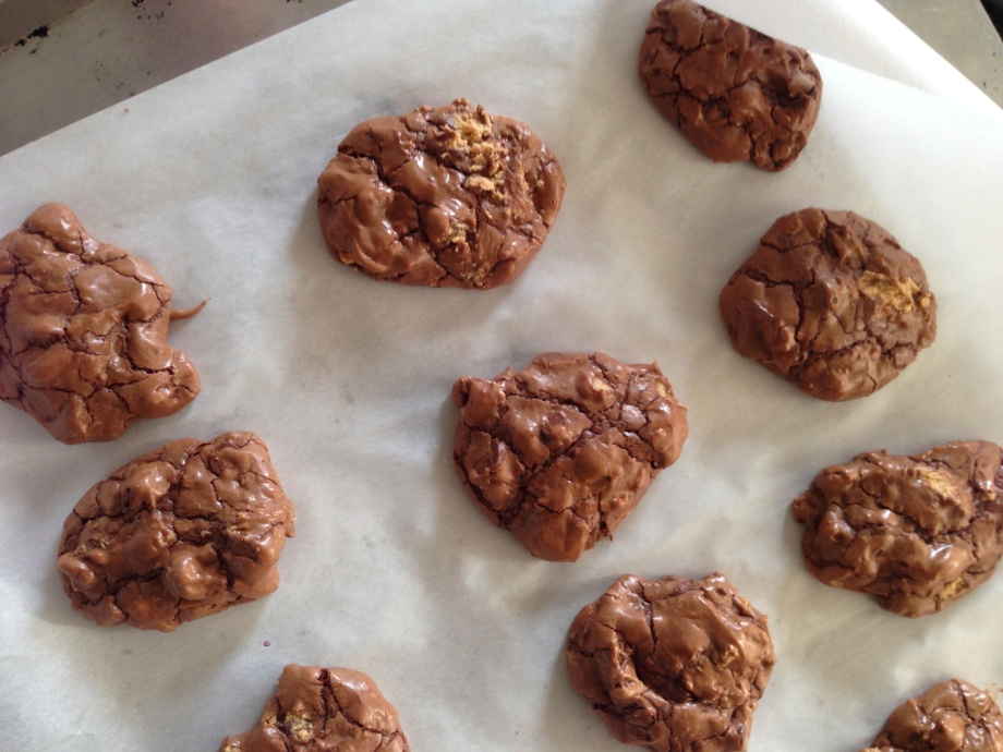 chocolate peanut butter globs.