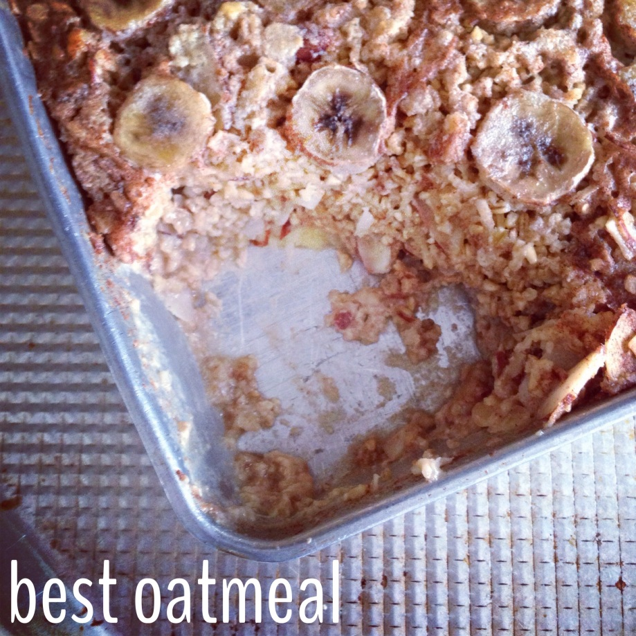 banana walnut baked oatmeal.