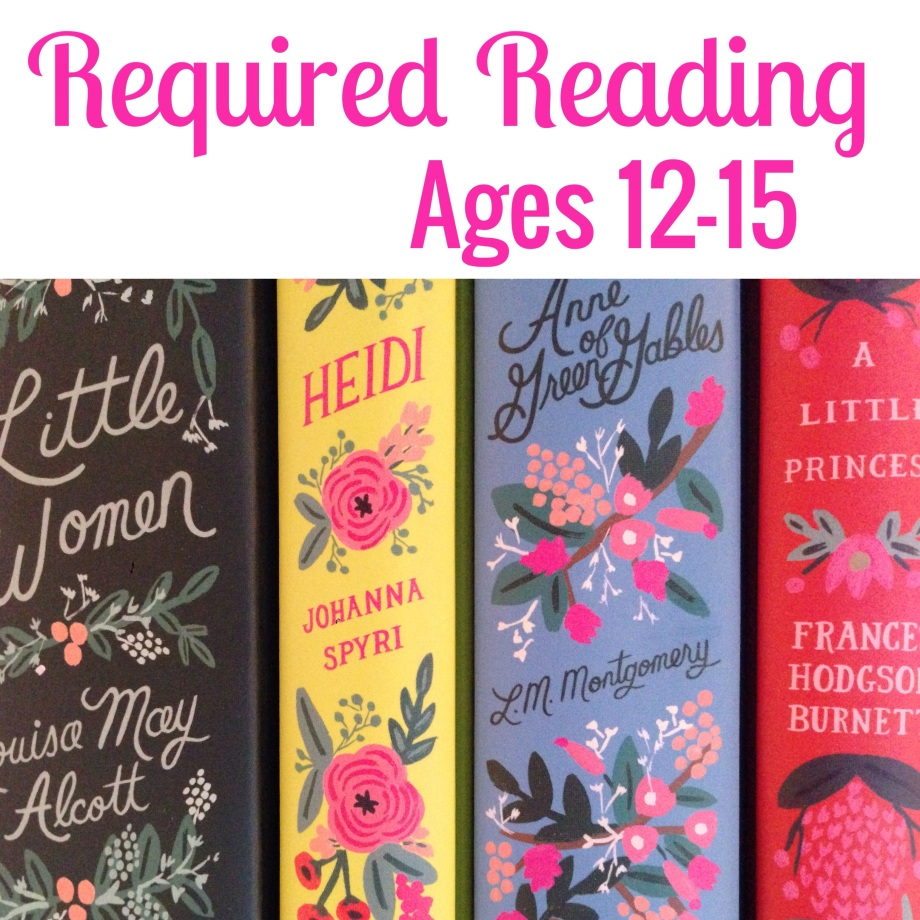 required reading, ages 12-15