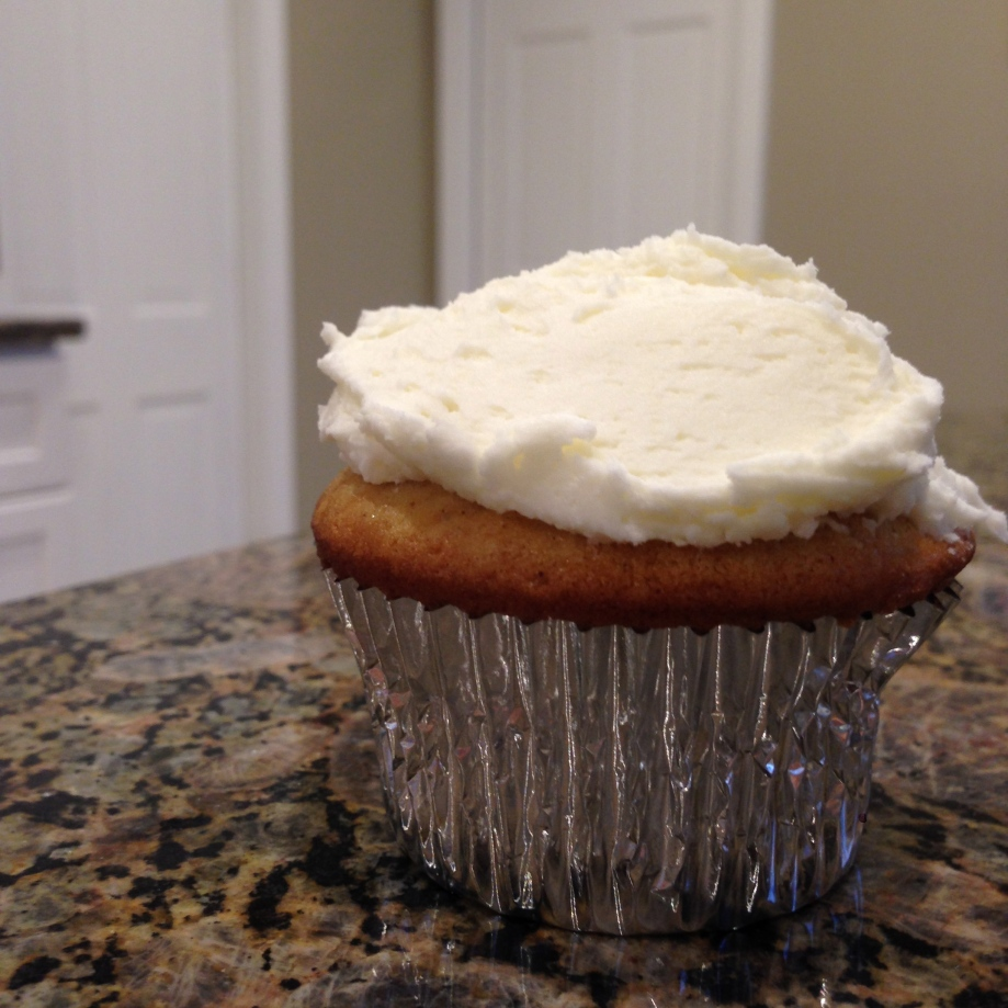 brown butter cupcakes with bourbon buttercream.